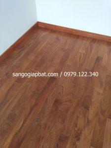 Thi công sàn gỗ Gõ Nam Phi tại Chung cư Ngoại Giao Đoàn Phạm Văn Đồng