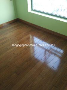 Thi công sàn gỗ Căm Xe Lào tại Chung cư GoldSilk Vạn Phúc Hà Đông