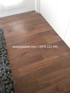 Thi công sàn gỗ Óc chó tại Khu biệt thự Fujiken Long Biên