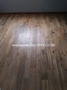 Thi công sàn gỗ Keo Tràm tại Chung cư Vĩnh Hoàng Tam Trinh Hà Nội