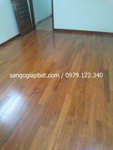 Thi công sàn gỗ Căm Xe Lào tại Đền Lừ Hoàng Mai Hà Nội