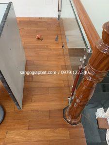 Thi công sàn gỗ Căm Xe Lào tại FLC GardenCity Đại Mỗ