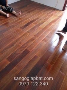 Thi công sàn gỗ Lim Nam Phi tại Chung cư Hoàng Đạo Thúy Hà Nội