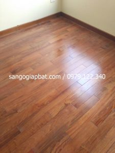 Thi công sàn gỗ Căm Xe Lào tại Thanh Trì Hà Nội