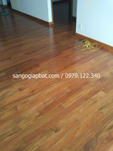 Thi công sàn gỗ Căm Xe Lào tại Chung cư The One Yên Sở Hà Nội