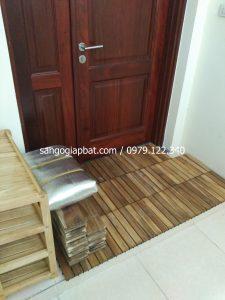 Thi công sàn gỗ Keo Tràm tại Chung cư Vp2 Linh Đàm Hà Nội